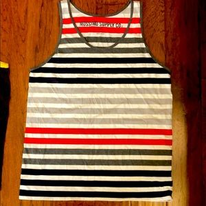 Abercrombie striped Tank Top Large